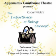 180413 THE IMPORTANCE OF BEING EARNEST Appomattox Courthouse Theatre