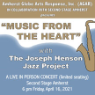 191026 THE JOSEPH HENSON JAZZ PROJECT * AGAR Coffee &  Jazz Evening
