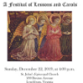 191222 A FESTIVAL OF LESSONS AND CAROLS St. John's Concerts
