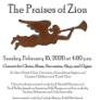200216 THE PRAISES OF ZION St. John's Concerts