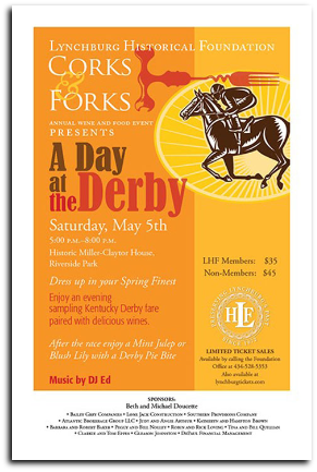 x180505 CORKS & FORKS: A DAY AT THE DERBY Lynchburg Historical Foundation