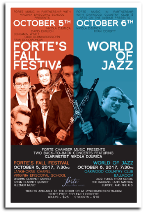 171006 WORLD OF JAZZ Forte Chamber Music