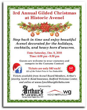 x181208 - 3rd ANNUAL GILDED CHRISTMAS CELEBRATION Historic Avenel