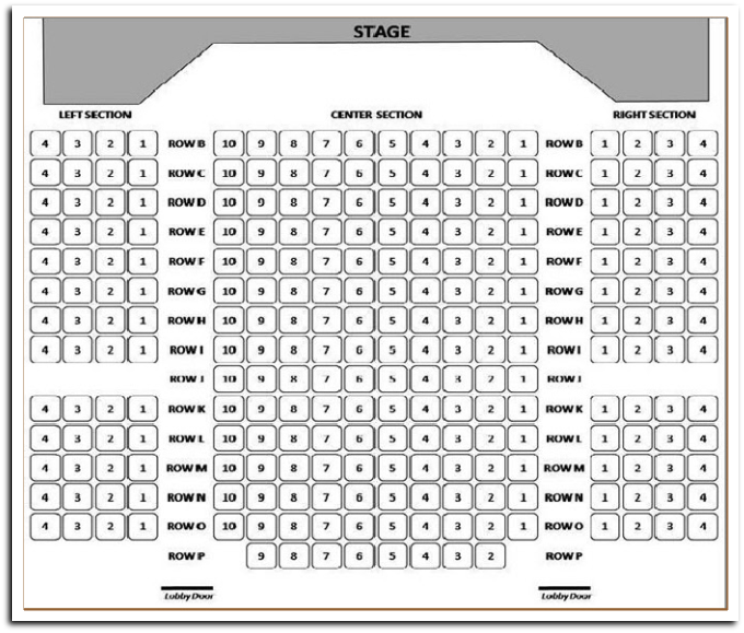 Little Town Players - Seating Plan