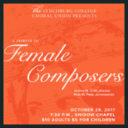171028 A TRIBUTE TO FEMALE COMPOSERS LC Choral Union