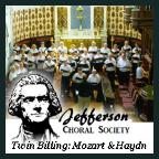 190428 A TWIN BILLING: MOZART'S CORONATION MASS & HAYDN'S MASS FOR TROUBLED TIMES Jefferson Choral Society