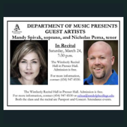 180324 MANDY SPIVAK, SOPRANO, AND NICHOLAS PERNA, TENOR Randolph College Music